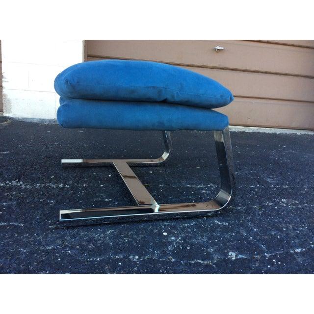 Milo Baughman Chrome Lounge Chair & Ottoman - Image 6 of 7