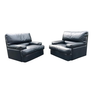1980s Vintage Roche Bobois Club Chairs- a Pair For Sale