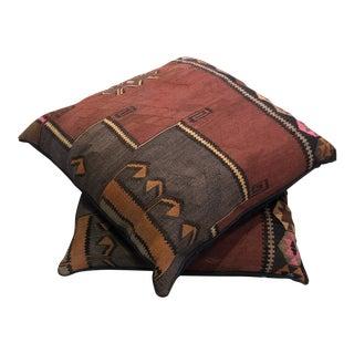 Vintage Kilim Pillows - a Pair For Sale