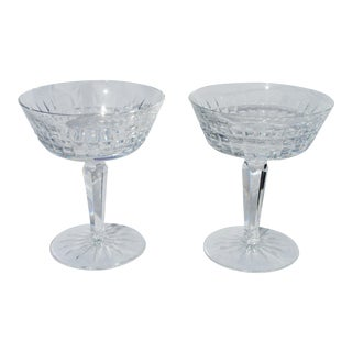 Vintage Glenmore Waterford Crystal Champagne Tall Sherbet Glasses - a Pair For Sale