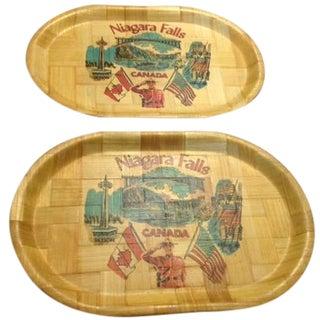 Vintage Niagara Falls Trays - A Pair For Sale