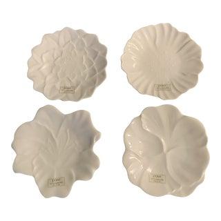 1980 Utsuwakan White Dessert Plates - Set of 4 For Sale