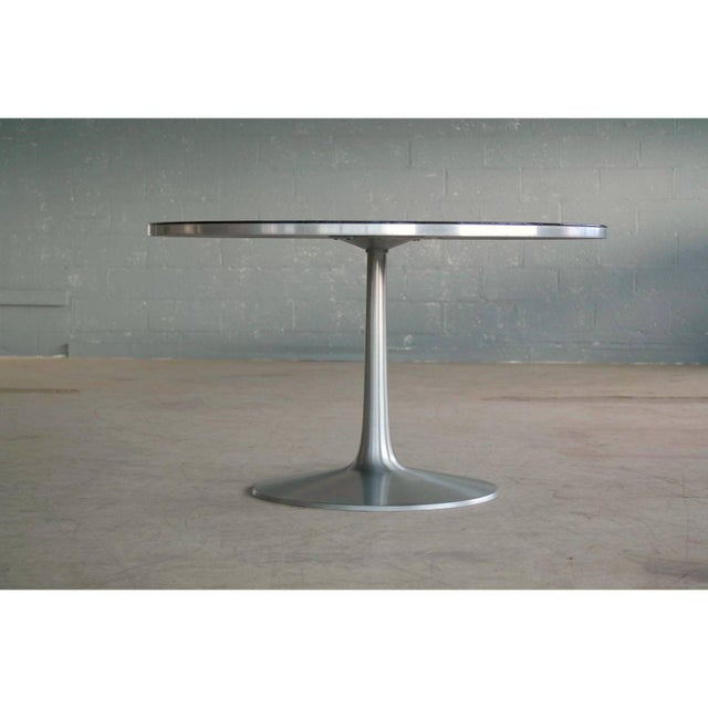 Poul Cadovius 1960s Dining Table in Aluminum and Matching Plastic Dining Chairs For Sale - Image 9 of 12