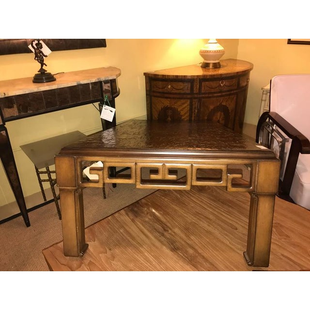 Early 21st Century Asian Style and Greek Key Combo Cocktail Table For Sale - Image 5 of 8