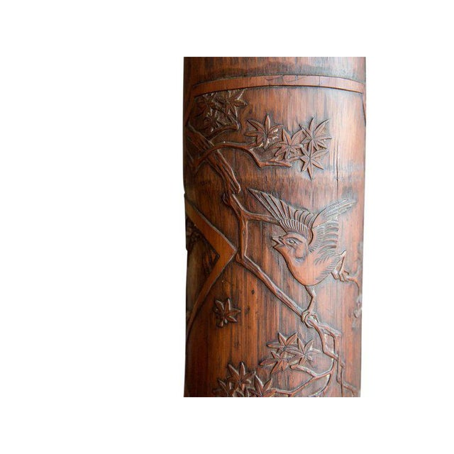 Antique Chinese Carved Bamboo Table Lamps - a Pair For Sale In Boston - Image 6 of 8