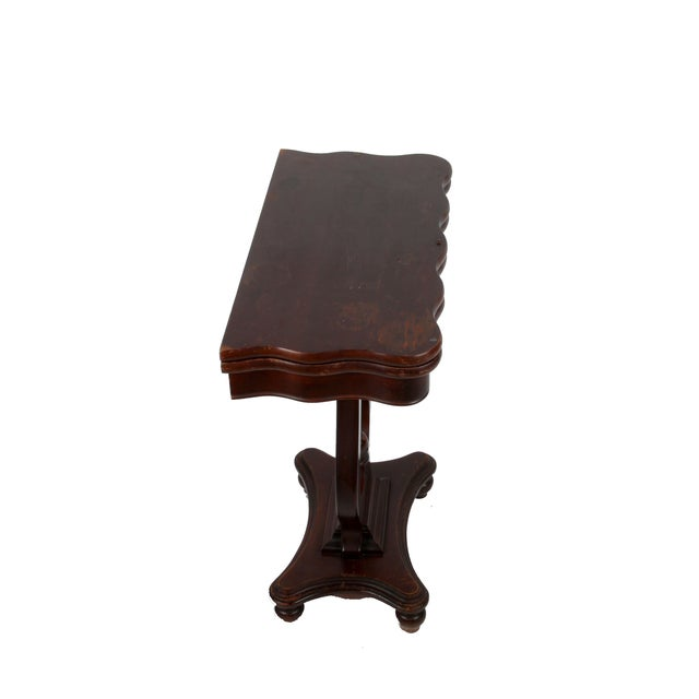 Vintage Flip-Top & Harp Base Side Table - Image 2 of 8