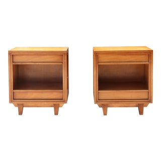 Vintage Walnut Nightstands - a Pair For Sale