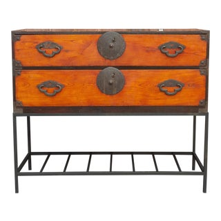 Antique Tansu Dresser on Stand For Sale