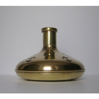 Vintage Swedish Brass & Glass Nautical Theme Decanter Preview