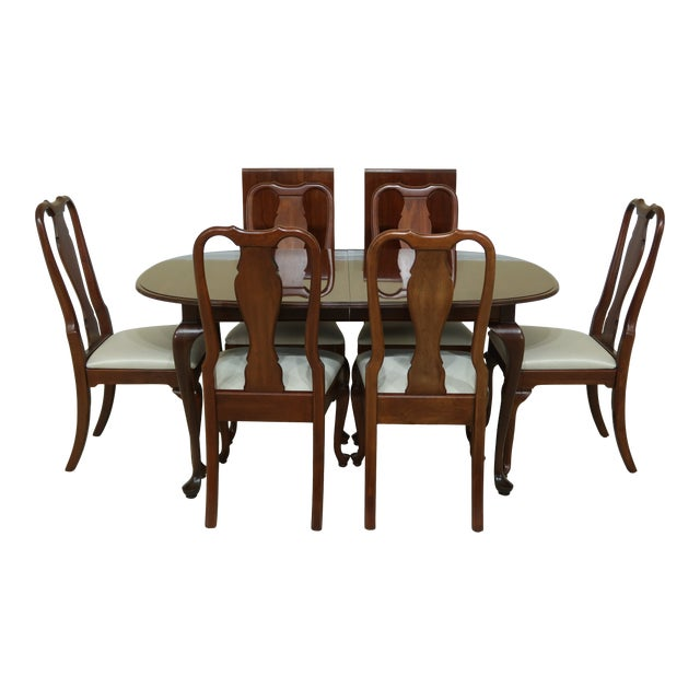 Knob Creek by Ethan Allen Cherry Dining Room Set For Sale