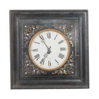 French 19th Century Boulle-Inlaid Wall Clock For Sale
