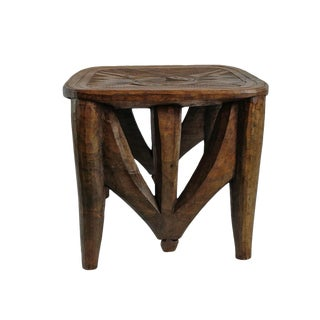 Vintage XL Nupe Tribal Stool / Table For Sale