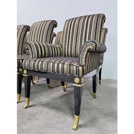 Hollywood Regency Mid Century Hollywood Regency Mastercraft Dining Chairs - Set of 8 For Sale - Image 3 of 13