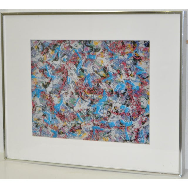 Glass Mixed Media Multi-Layered Masterpiece by Paul Slapion C.1985 For Sale - Image 7 of 7