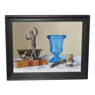 "John T. Axton III ""Poetics - Aristotle"" Original Still Life Oil Painting"