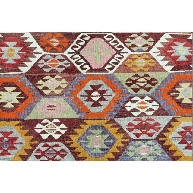 Textile 1960s Vintage Tavas Nomad's Flat Weave Rug For Sale - Image 7 of 12
