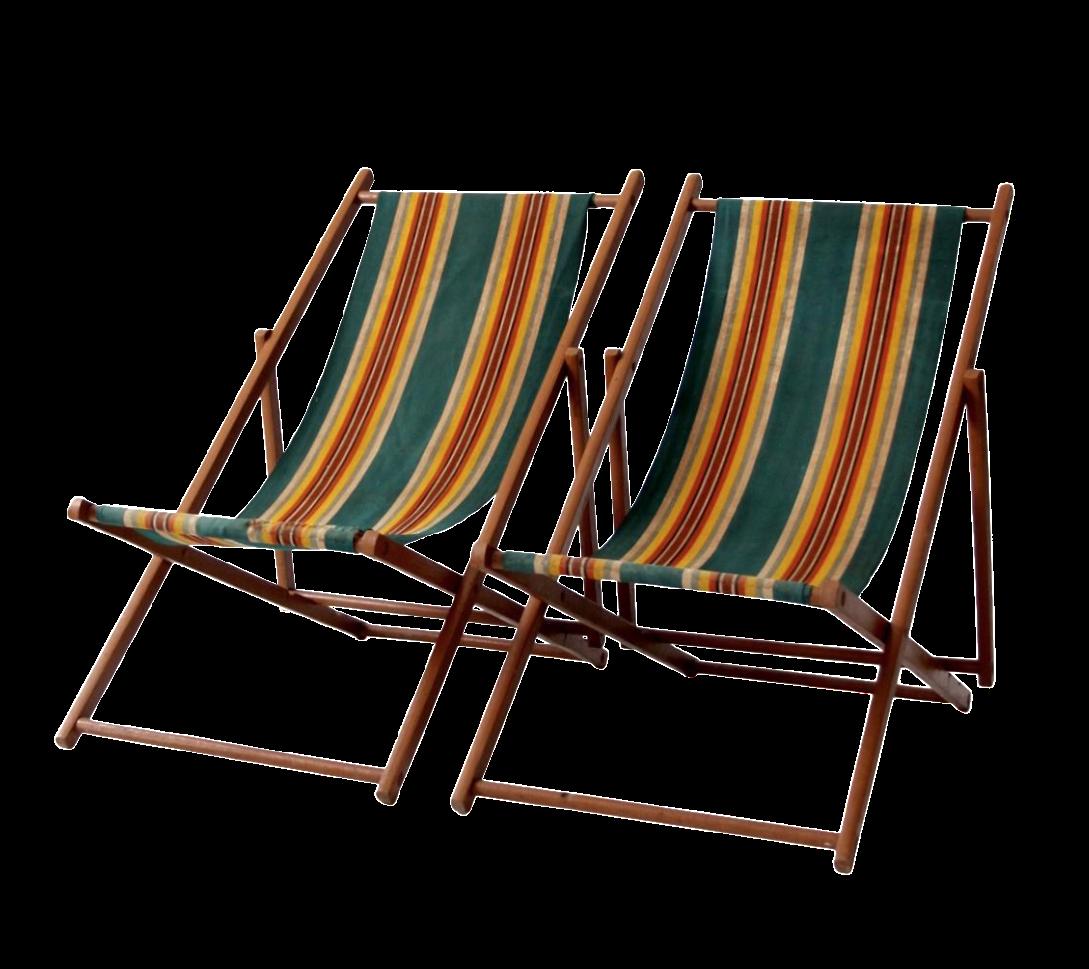 Vintage 1940u0027s Striped Deck Chairs - A Pair  sc 1 st  Chairish & Vintage 1940u0027s Striped Deck Chairs - A Pair | Chairish