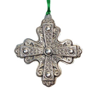 Reed & Barton 1972 Sterling Cross Holiday Ornament For Sale