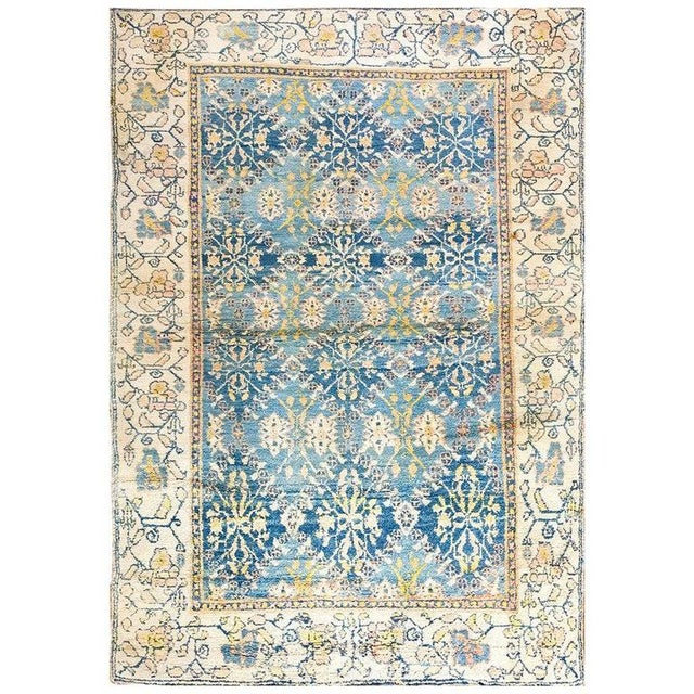 Textile Antique Indian Agra Cotton Rug For Sale - Image 7 of 7