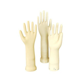 Vintage Porcelain Glove Mold - Set of 3