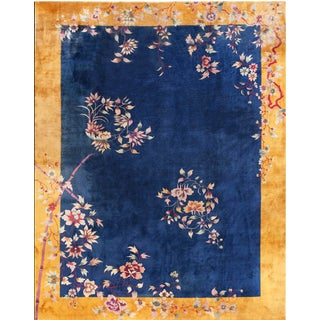 Antique Chinese Art Deco Rug- 8′10″ × 11′4″ For Sale