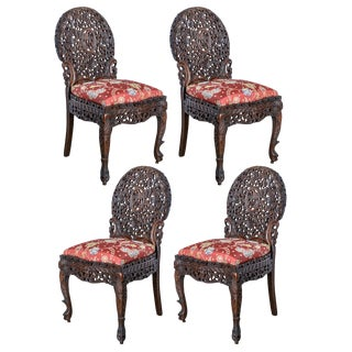 Anglo-Indian Side Chairs - Set of 4