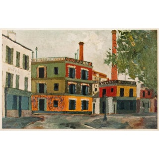 """1950s Maurice Utrillo """"Factories"""", First Edition Period Industrial Style Lithograph For Sale"""