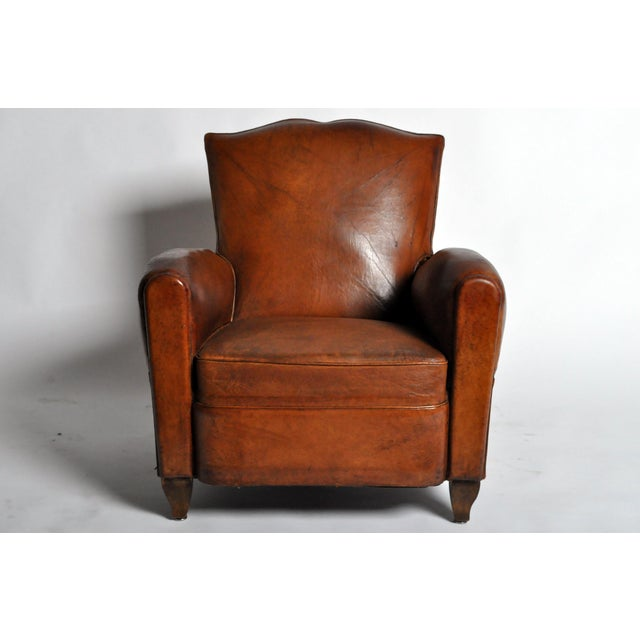 Art Deco Leather Club Chair - Image 3 of 11
