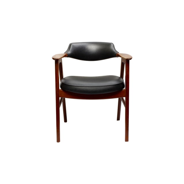 Erik Kirkegaard Mid-Century Danish Desk Chair - Image 1 of 7