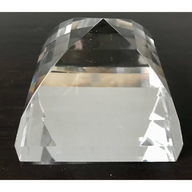 Lovely vintage Tiffany & Co crystal paperweight/decorative item. Beautiful piece with some wear, including small chip to...