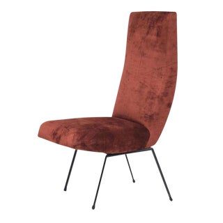 Pierre Guariche Style High Back Chair