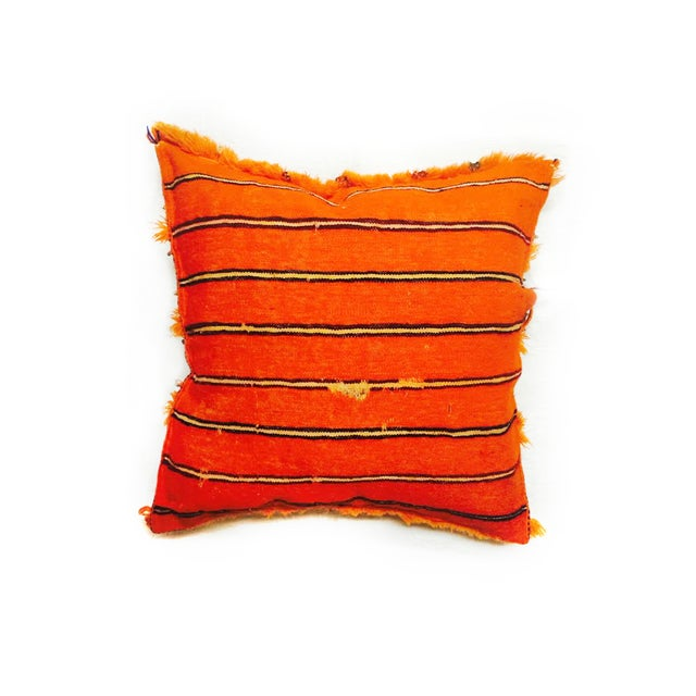 Orange Moroccan Accent Pillow - Image 2 of 2