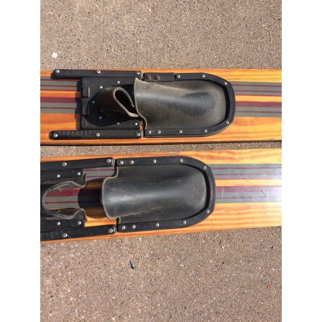 Vintage Wooden Water Skis - A Pair For Sale - Image 5 of 5