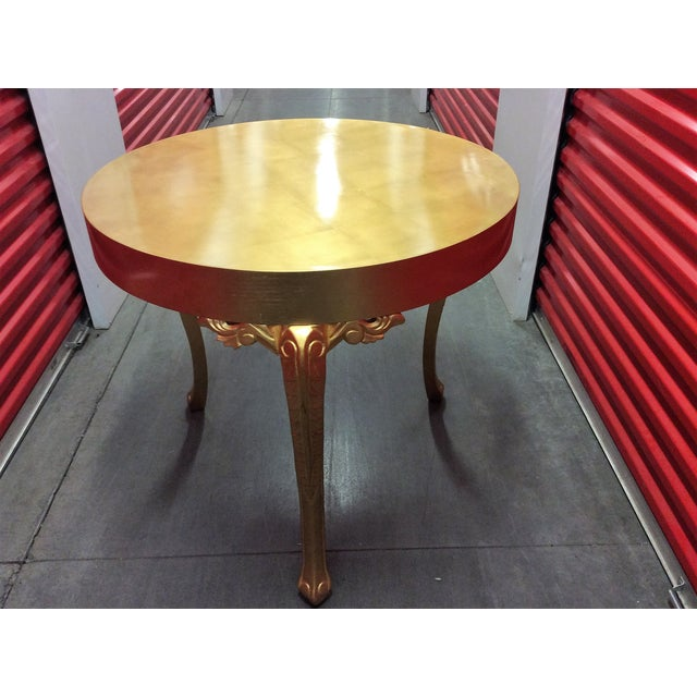 Gold Round Entry Table - Image 2 of 9