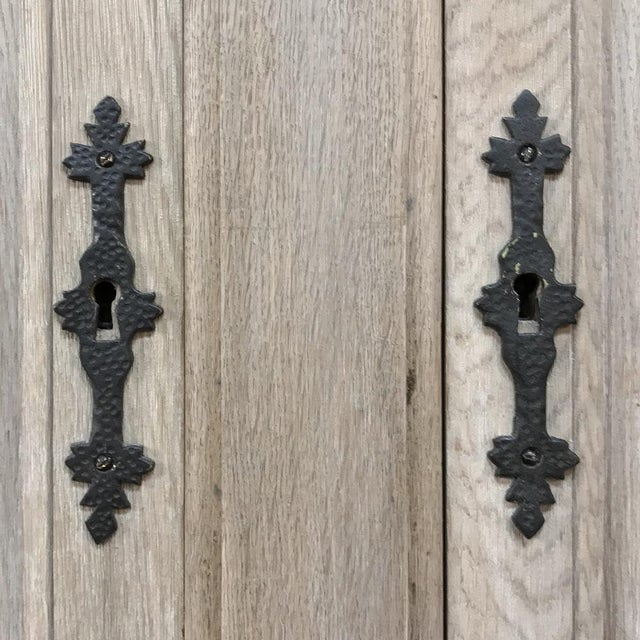 Buffet, Antique Gothic in Whitewashed Oak For Sale - Image 11 of 13