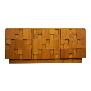Mid-Century Lane Brutalist Dresser For Sale