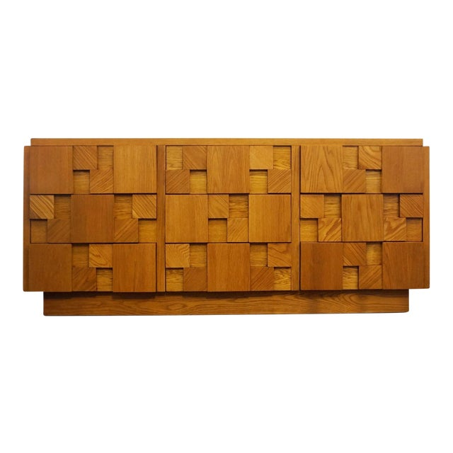 Mid-Century Lane Brutalist Dresser For Sale