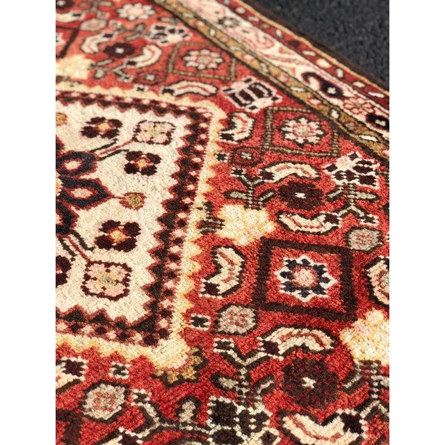 1960s Vintage Persian Karajeh Runner Rug - 3′7″ × 10′6″ For Sale In Atlanta - Image 6 of 13