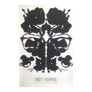 "Andy Warhol Original Lithograph Print Pop Art Poster ""Rorschach Ink Blot"", 1984"