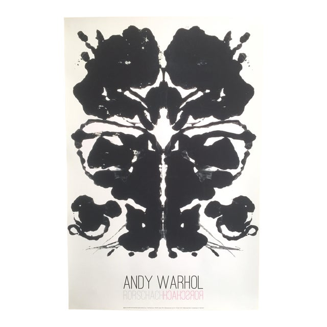 "Andy Warhol Original Lithograph Print Pop Art Poster ""Rorschach Ink Blot"", 1984 For Sale"