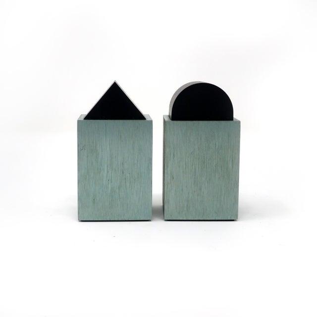 Memphis Green Post Modern Salt & Pepper by David Tisdale for Elika For Sale - Image 3 of 7