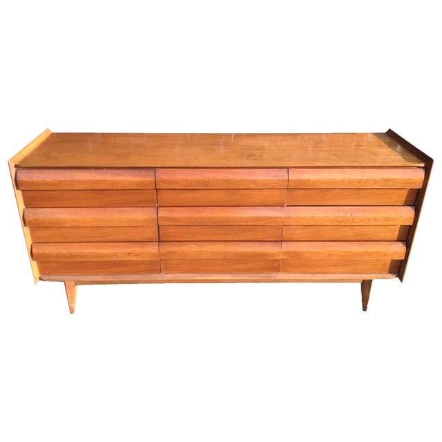 Mid Century Walnut Lane Furniture Dresser - Image 1 of 8