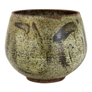 Mid Century Modern Studio Ceramic Stoneware Pot by Mark Zamantakis For Sale