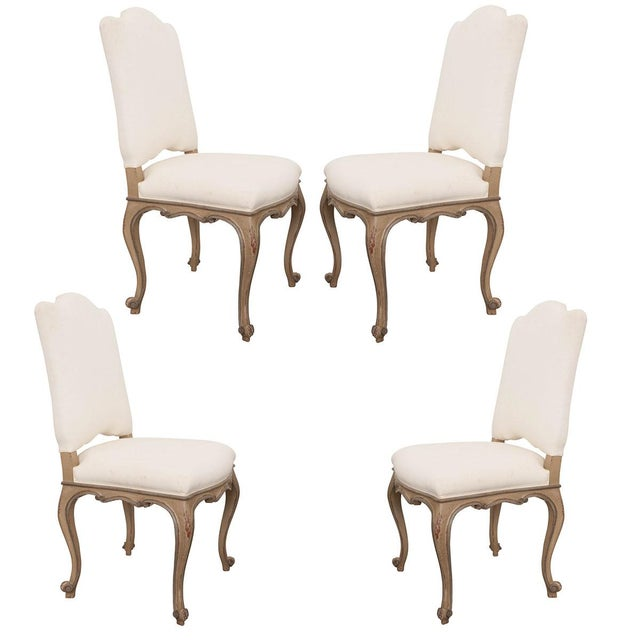 French Louis XV Style Reproduction Dining / Side Chairs - Set of 4 For Sale - Image 13 of 13