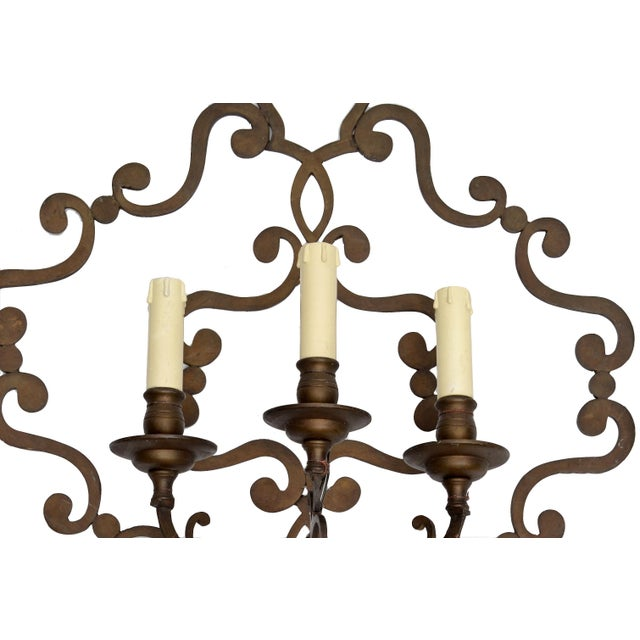 Italian Wrought Iron Applique, Wall Sconce - Image 4 of 5