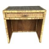 Image of Vintage Rattan Wicker Vanity Desk For Sale