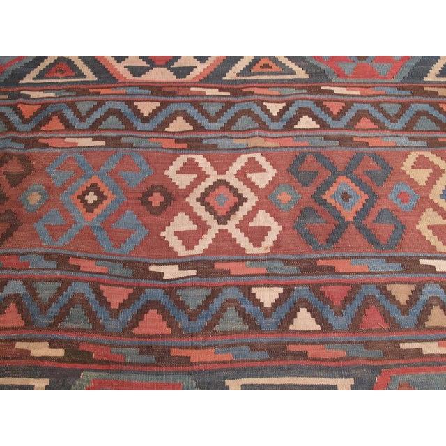 Textile Shirvan Kilim For Sale - Image 7 of 8