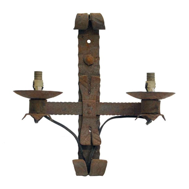 Metal Antique Wrought Iron Sconces - Set of 4 For Sale - Image 7 of 8