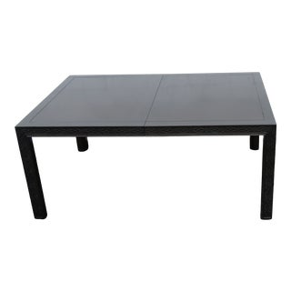 Hollywood Regency Chippendale Ebony Finish Dining Table With Two Leaves 2431 For Sale