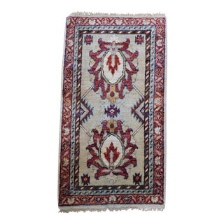 Hand-Knotted Oushak Rug - 1′9″ × 3′4″
